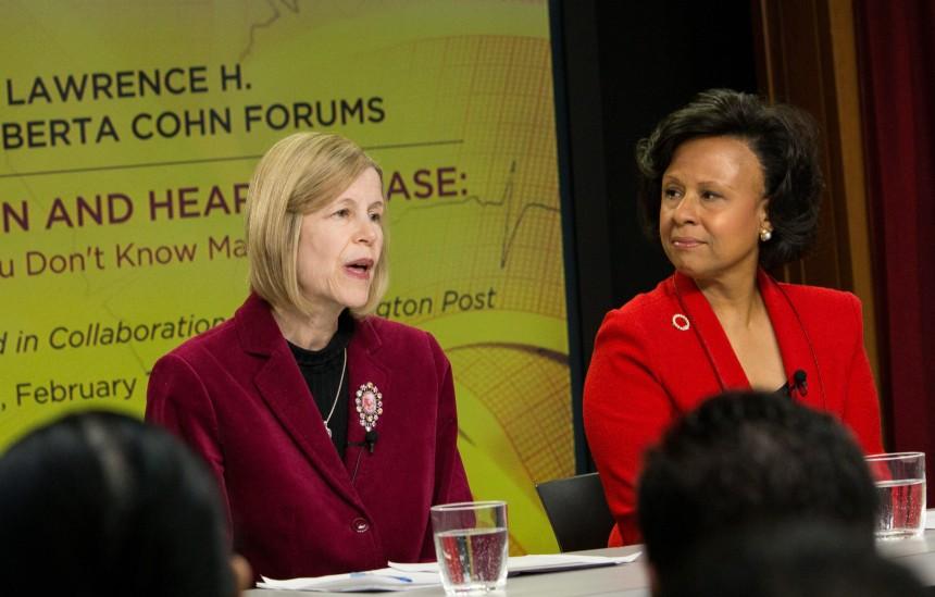 From left: Panelists JoAnn Manson and Paula Johnson