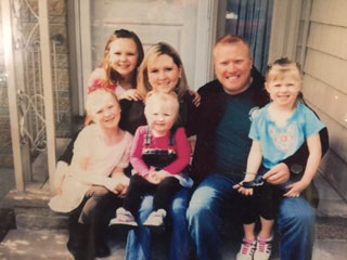 Cindy Scribner with her family
