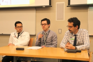 From left: Panelists Quoc-Dien Trinh, Austin Chiang and Asaf Bitton