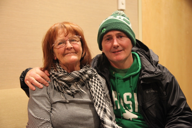 Patient Donna Murphy and her son, Jason