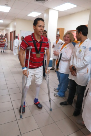 Abel Rodriguez's hips were replaced during this year's Operation Walk mission.