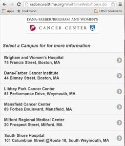 The Rad Onc Wait Time App allows patients to check waiting times from a web browser or smartphone.