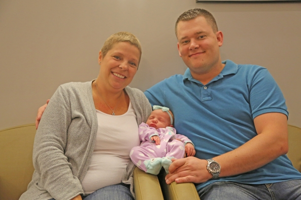 Jodi and Nate Killeffer, with new baby Coraline
