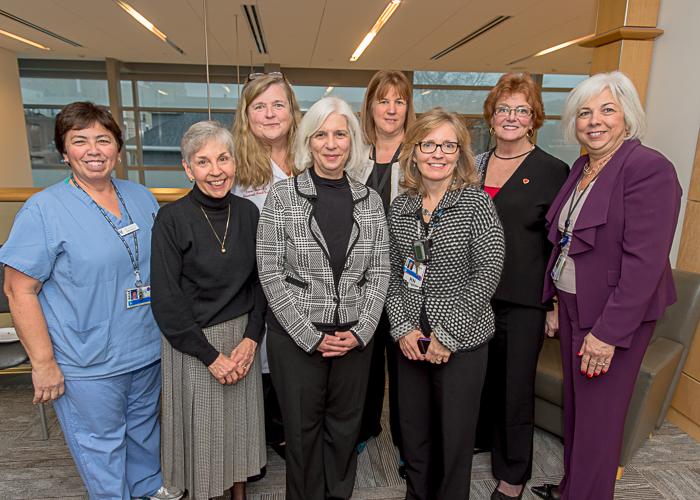 From left: LCU nurses Dina Sousa, Joan Morgan, Irene Cooper, Gail Slotnick, Karen Reilly, Kathleen Ryan-Avery, Teana Gilinson and Laura Rossi