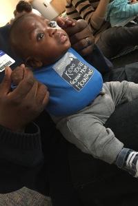 Baby Noah at home