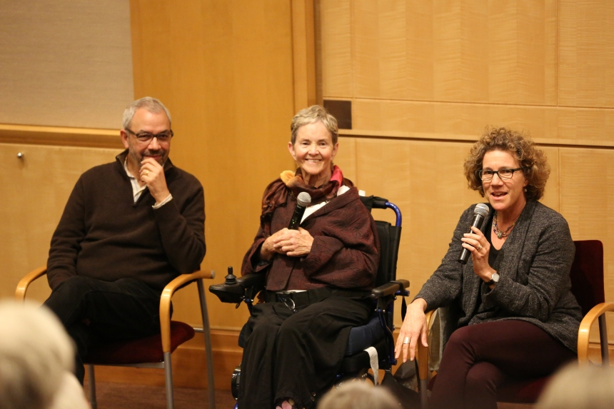 From left: Mark Lipman, Grace Dammann and Helen Cohen