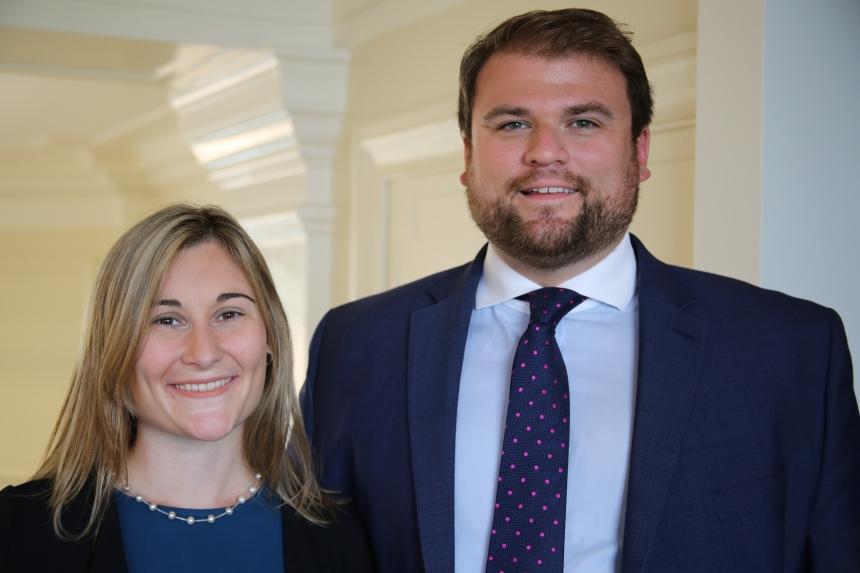 Elizabeth Stanley and Collin Brady