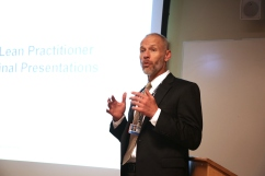 Thomas Walsh, of BWHC Analytics, Planning and Process Improvement, speaks at the Lean presentations in July.
