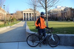 Alexander Frieden launched CarsInBikeLanes Boston as a result of his experiences commuting to Longwood as a cyclist.