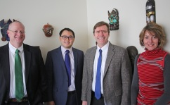 From left: Edward Boyer, Peter Chai, Timothy Erickson and Susan Farrell