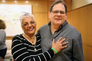 Pat Lopes embraces Brian Wade, the recipient of a donor heart from her late son, Manuel Lopes III.
