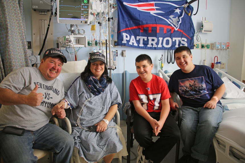 From left: Brian and Pam Vigil, with their sons