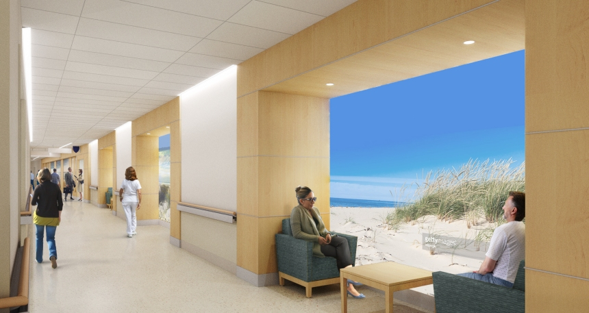 An artist's rendering illustrates the Pike's upcoming coastalthemed area, which will be located near Bornstein Amphitheater.